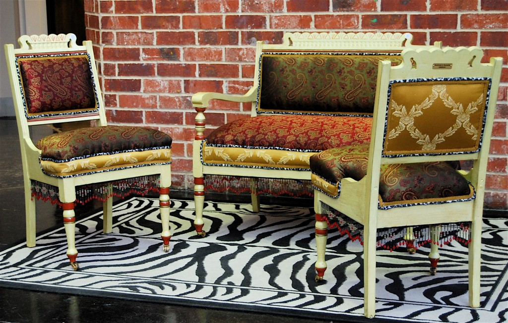 Parlor Wear:  Settee and chairs–SOLD